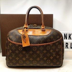 Louis Vuitton deauville monogram top handle bag